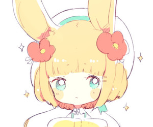 anime, cute, and bunny image