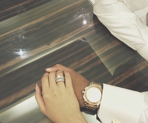 couple, watch, and hands image