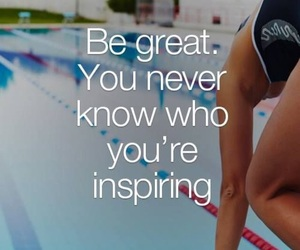 motivation, quote, and swimmer image