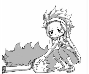 gale, levy, and fairy tail image