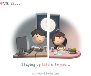 love, couple, and Late image