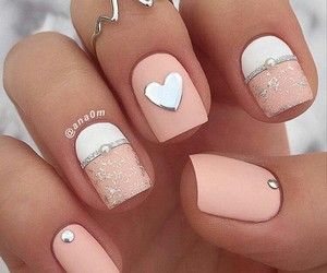 nails, style, and heart image