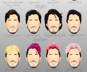 markiplier, youtube, and hair image