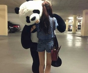 panda and girl image