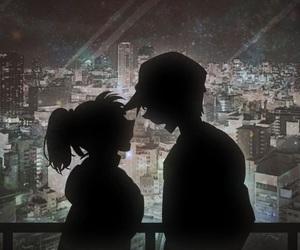 detective conan, kazuha, and heiji hattori image