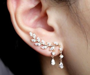 earrings, jewelry, and diamonds image
