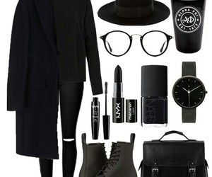hat, outfit, and watch image
