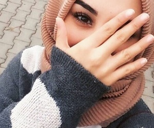 girls, hijab, and islam image