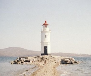 lighthouse, aesthetic, and beach image