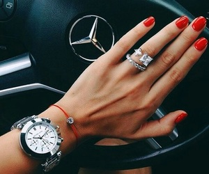 car, nails, and red image