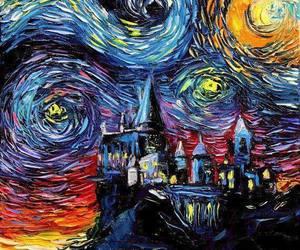 art, hogwarts, and harry potter image