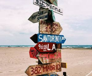 beach, sand, and travel image