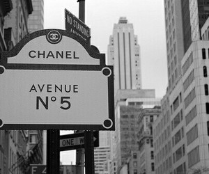 chanel, avenue, and black and white image
