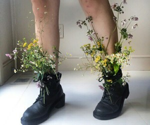 aesthetic, shoes, and flowers image