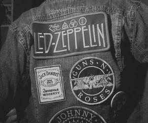 Guns N Roses, led zeppelin, and black and white image