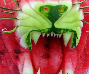art, green, and fruit image