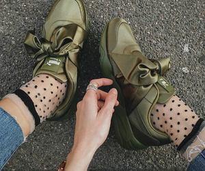 fashion, puma, and green image