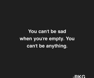 quote, empty, and it hurts image