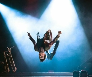 backflip, brendon urie, and panic! at the disco image