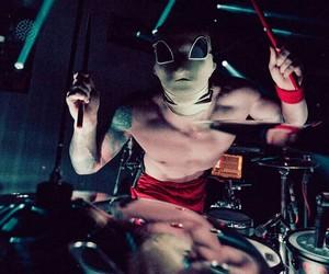 twenty one pilots, concert, and drums image