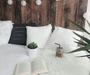 book, bed, and room image