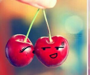 cherry, kiss, and red image