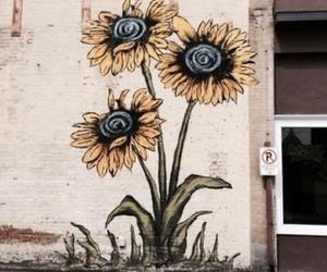 flowers, art, and sunflower image