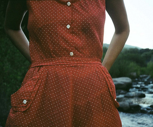 dress, vintage, and red image