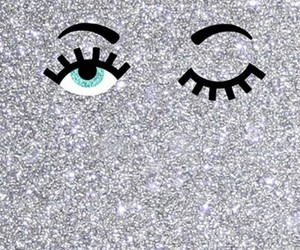 wallpaper, eyes, and glitter image