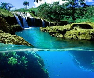 water, nature, and waterfall image