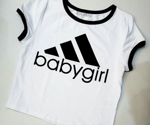 adidas, baby girl, and black and white image