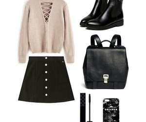 girly, outfit, and look image