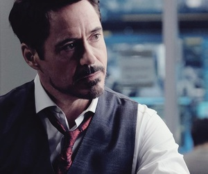 tony stark, iron man, and robert downey jr image