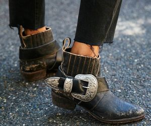 bohemian, boots, and desert image