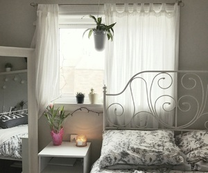 bedroom, candle, and cozy image
