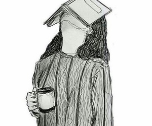 black and white, coffee, and book image