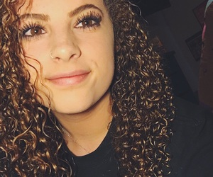 curls, dimples, and curly hair image