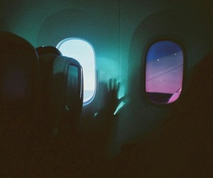 aesthetic, airplane, and neon image