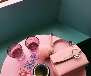 pink, coffee, and aesthetic image