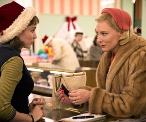 carol, cate blanchett, and rooney mara image