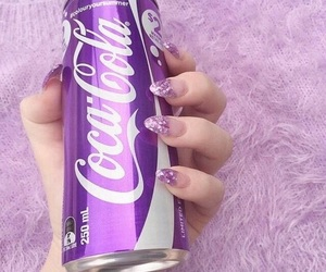 cola, nails, and purple image