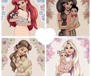 disney, ariel, and jasmine image