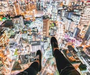 city, lights, and patterns image