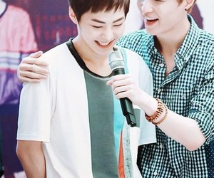 exo, xiumin, and lay image