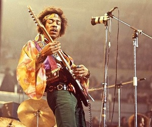 Jimi Hendrix, guitar, and music image
