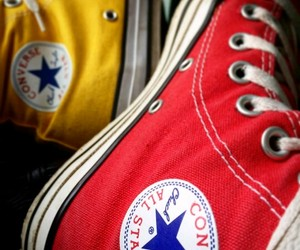 all star, chuck taylor, and yellow image