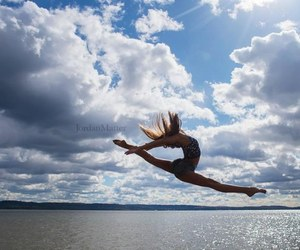 ballerina, ballet, and clouds image