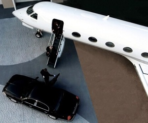 luxury, car, and plane image