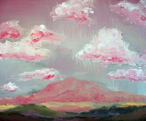 painting, sky, and art image