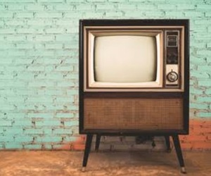 old, vintage, and television image